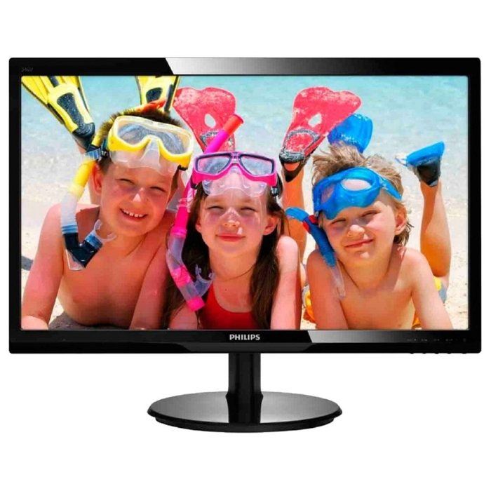 "Монитор Philips 24"" 246V5LSB (00/01), черный"