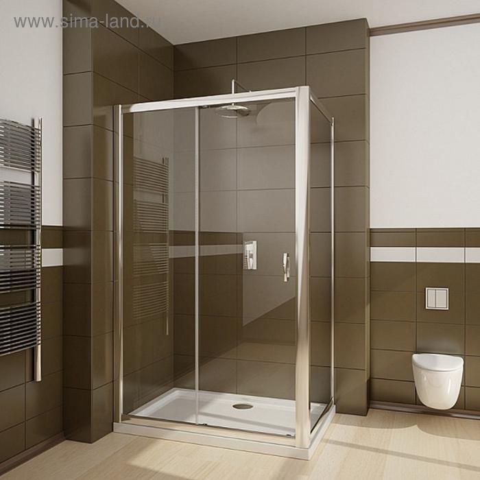 Стенка к душевой двери Radaway Premium Plus S 90 900*1900 хром/коричневое/5мм 33403-01-08N