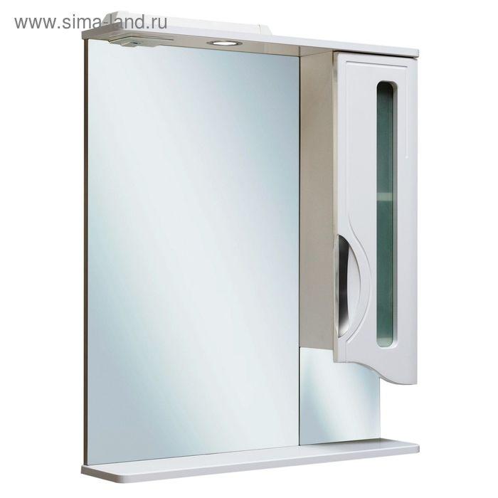 Шкаф зеркальный навесной Толедо 65, правый, с подсветкой, Руно 447655