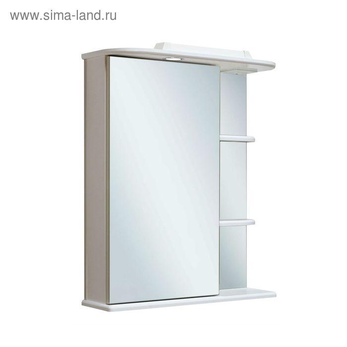 Шкаф зеркальный навесной Магнолия 50, левый, белый, Руно 449501