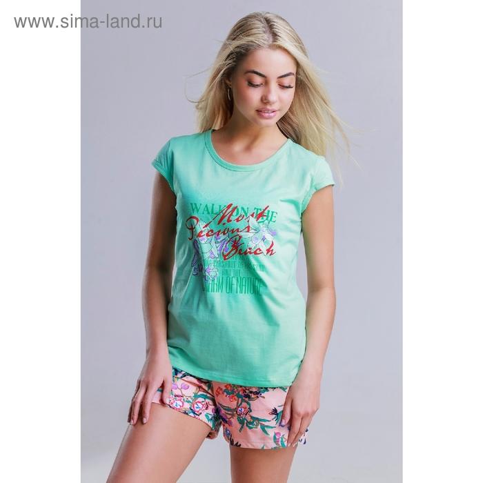 Комплект женский (футболка, шорты), цвет МИКС, размер 50 (арт.8444)