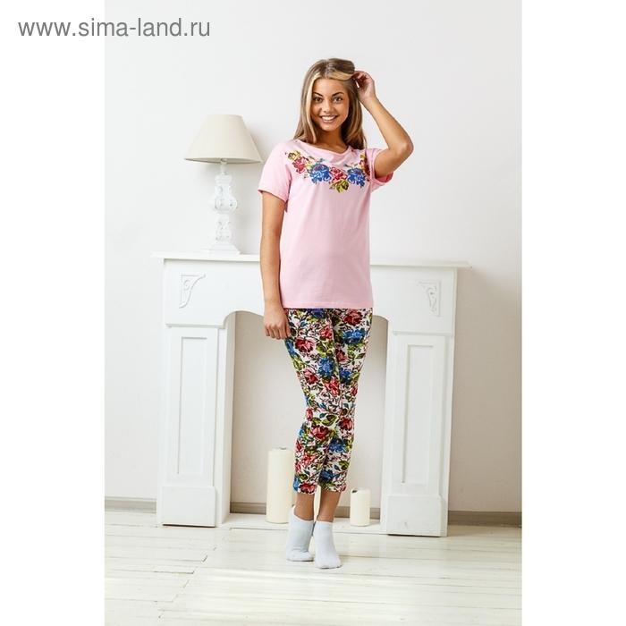 Комплект женский (футболка, бриджи) 8262/02, р-р 50 кулирка/фуллайкра