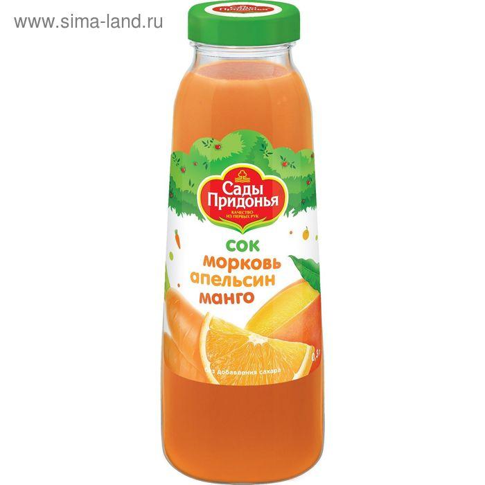"""Сок """"Сады Придонья"""" морковь, апельсин, манго, 0.3л"""
