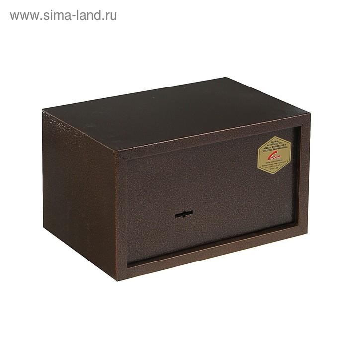 Сейф офисный ШБС-017 со съемной полкой, цвет бронза