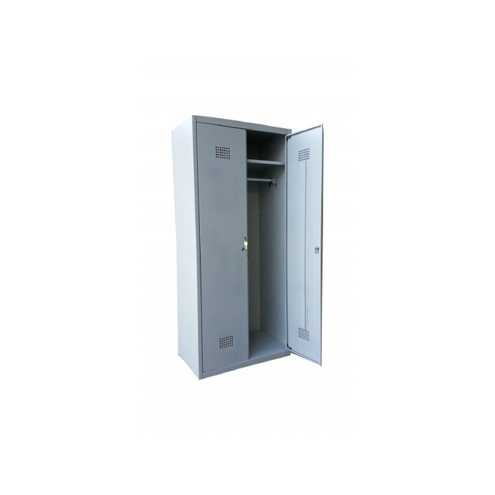 Сейф гардеробный ШГС-1800/500 (двухсекционный, полки, перекладины, металл 0,5)