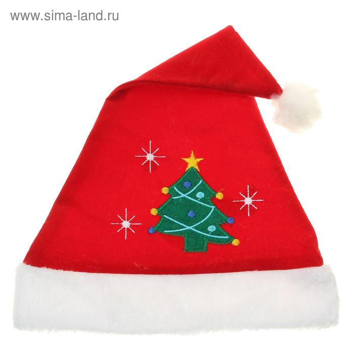 """Колпак новогодний """"С новогодней ёлкой"""" 28*41 см"""
