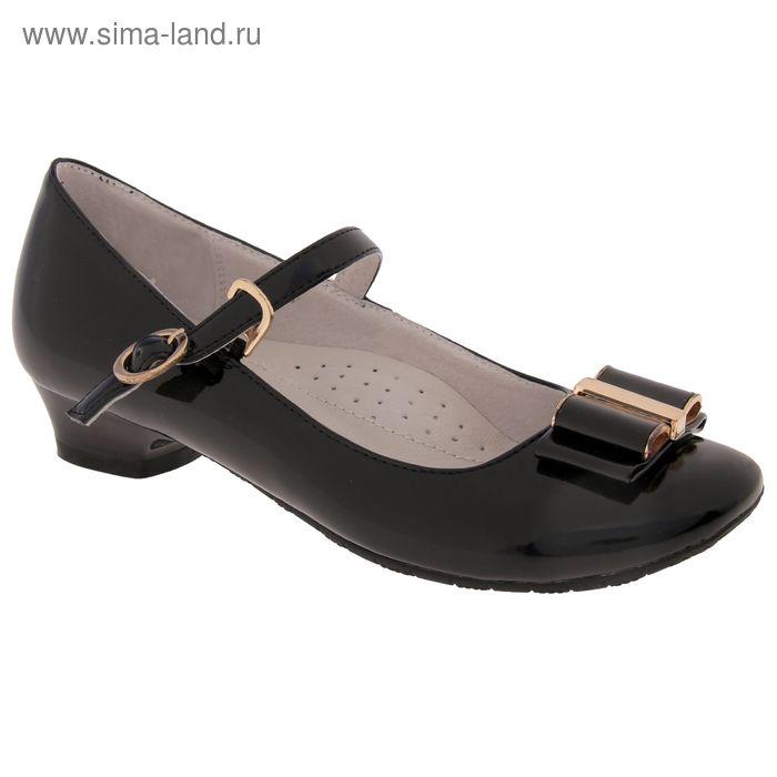 Туфли школьные, размер 37, цвет чёрный (арт. SC-21804)