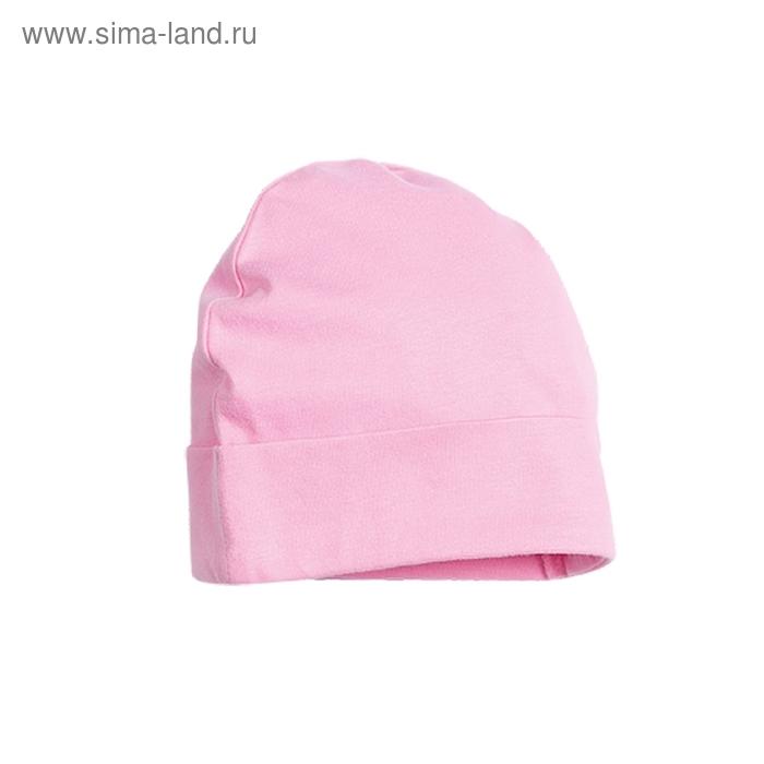 Шапочка детская, 9-12 месяцев, цвет розовый, SQ425