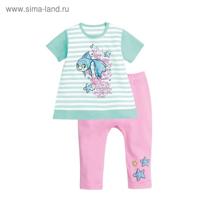 Комплект детский, 6-9 месяцев, цвет изумрудный, SAML425