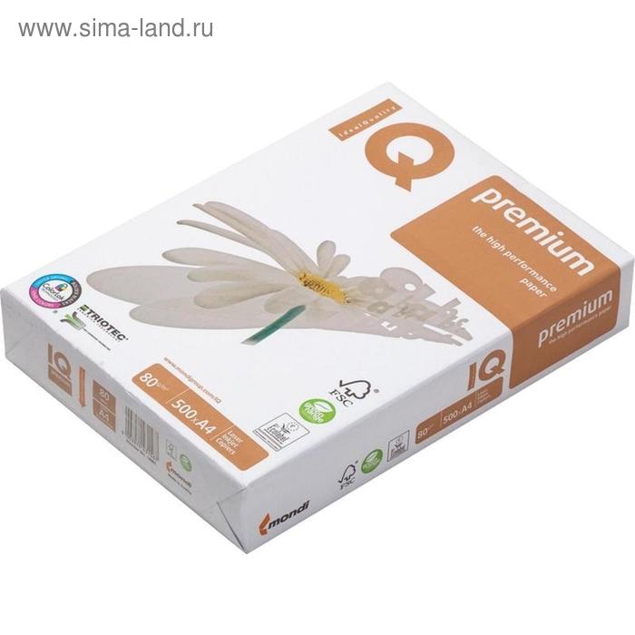 Бумага А4 500л IQ Premium 80г/м2,169CIE% класс А