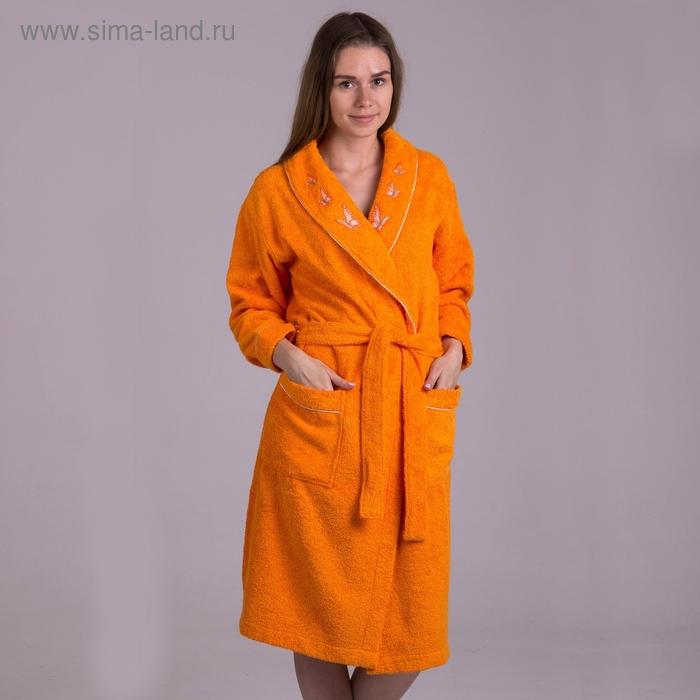 Халат женский, размер 46, цвет оранжевый 2001