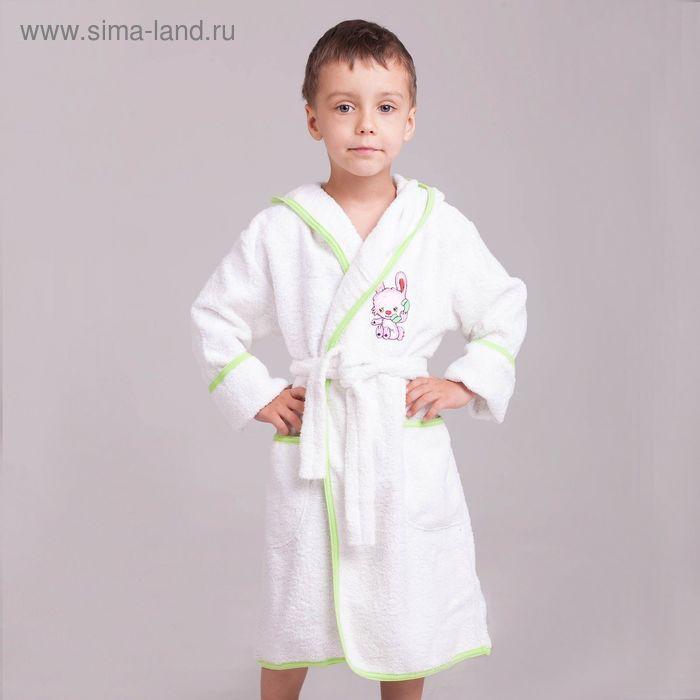 Халат детский махровый, рост 128 см (32), цвет белый D285