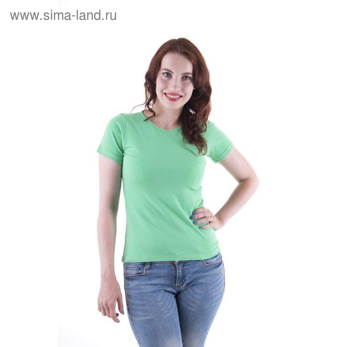 Футболка женская, размер 52-54 (XXL), цвет светло-зелёный (арт.VSE25prn)