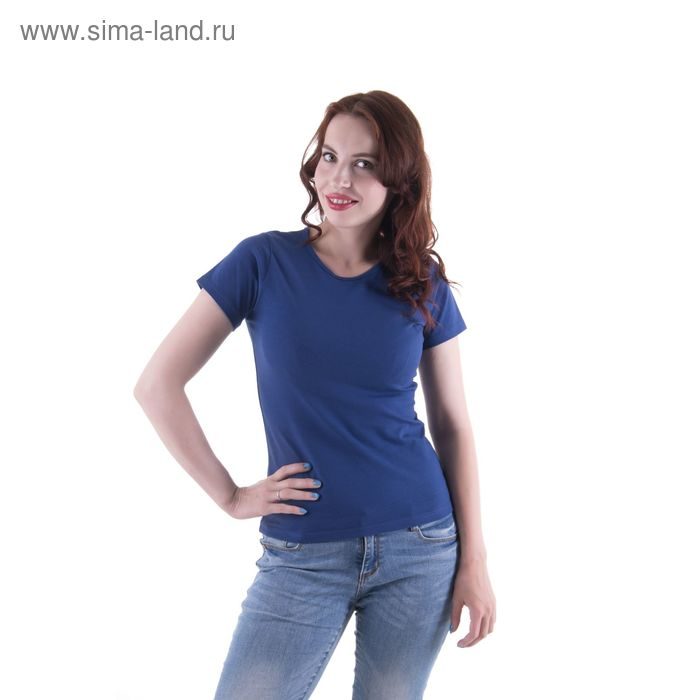 Футболка женская, размер 52-54 (XXL), цвет тёмно-синий (арт.VSE25prn)
