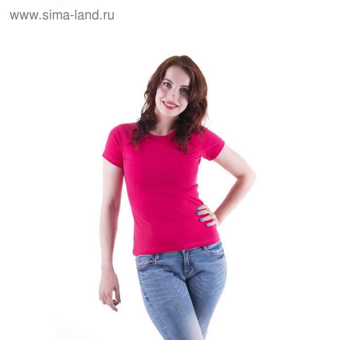Футболка женская, размер 50-52 (XL), цвет фуксия (арт.VSE25prn)