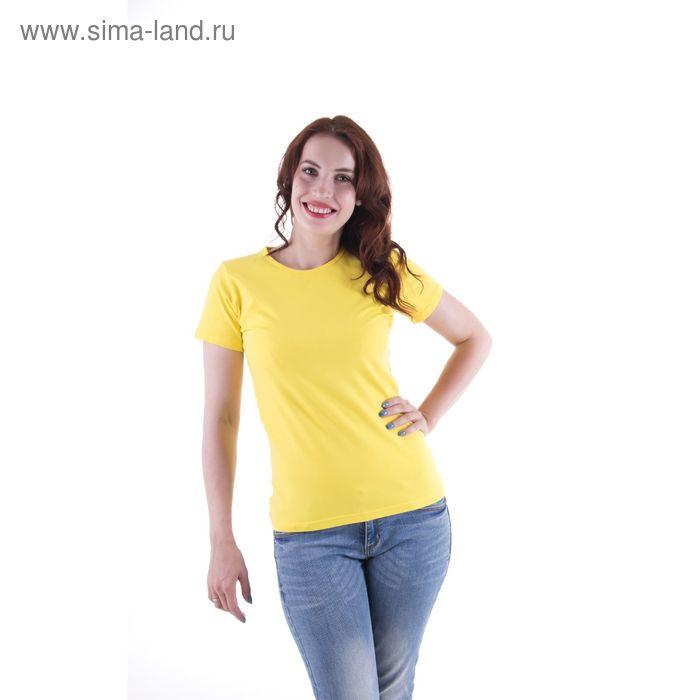 Футболка женская, размер 42-44 (XS), цвет желтый (арт.VSE25prn)