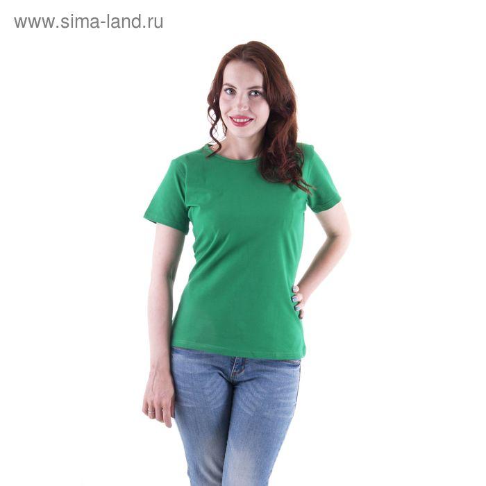 Футболка женская, размер 44-46 (S), цвет зелёный (арт.VSE25prn)