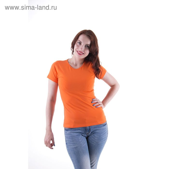 Футболка женская, размер 44-46 (S), цвет оранжевый (арт.VSE25prn)