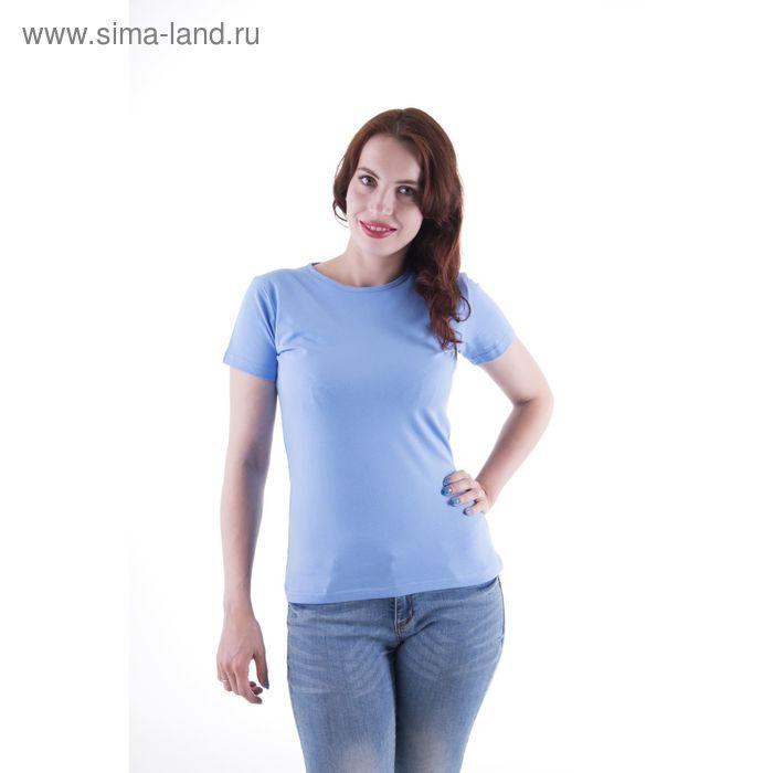 Футболка женская, размер 52-54 (XXL), цвет светло-голубой (арт.VSE25prn)