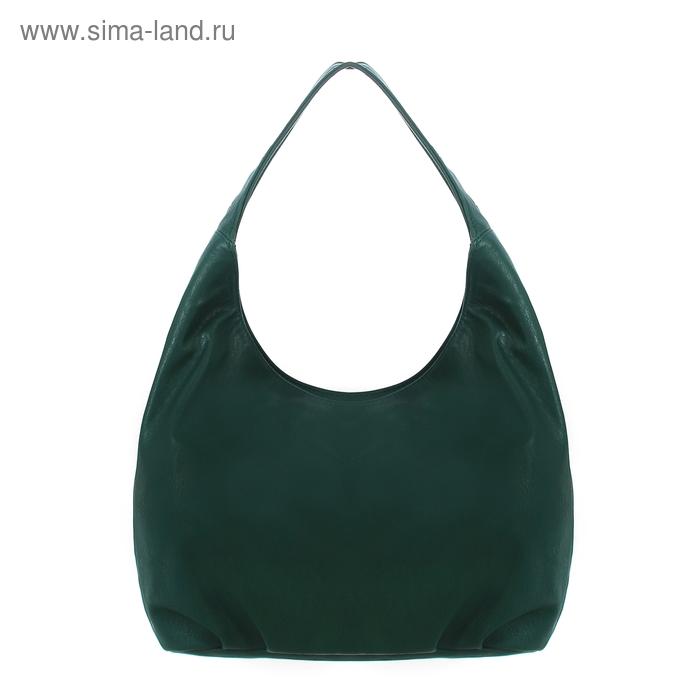 Сумка женская на молнии, 1 отдел, 1 наружный карман, зелёная
