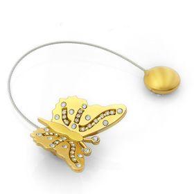 """Подхват для штор тросик """"Солнечная бабочка"""", цвет золотой"""