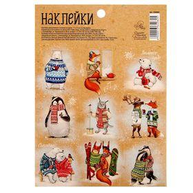 """Наклейки декоративные """"Снежные истории"""", 11 х 15 см"""