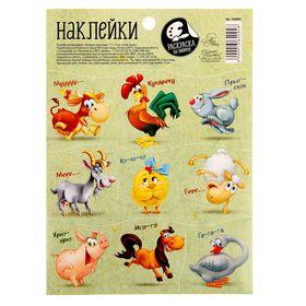 Наклейки декоративные «Забавные животные», 11 х 15 см Ош