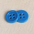 Пуговица на 4 прокола, 10мм, цвет бирюзовый