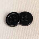 Пуговица на 4 прокола, 10мм, цвет чёрный