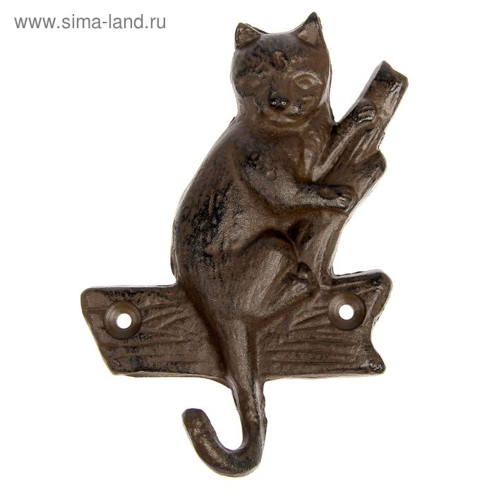 """Крючки декоративные """"Котёнок на дереве"""""""