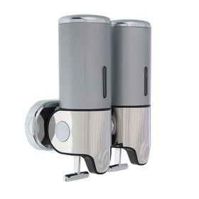 Диспенсер жидкого мыла механический 800 мл, цвет серый Ош