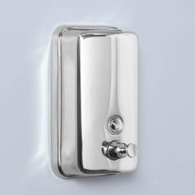 Диспенсер жидкого мыла механический 800 мл, нержавеющая сталь Ош