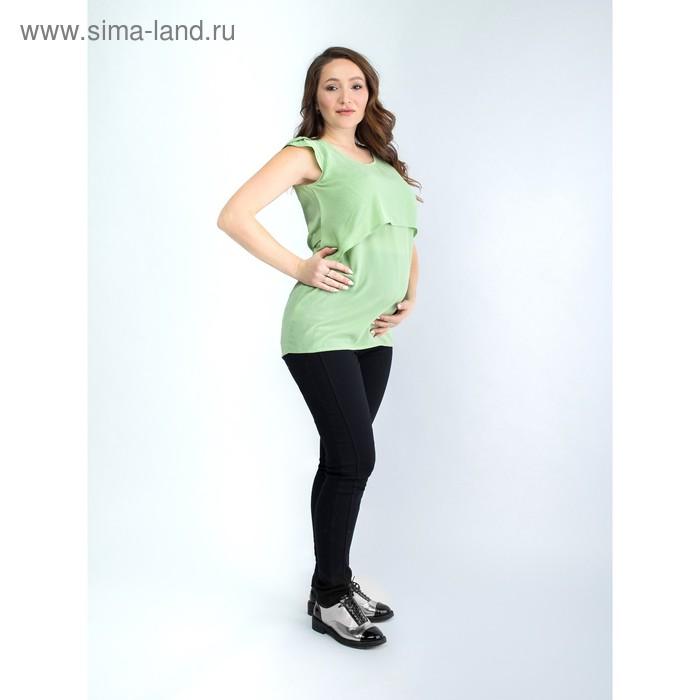Туника женская для беременных, размер 46, рост 168, цвет фисташковый (арт. 0373)