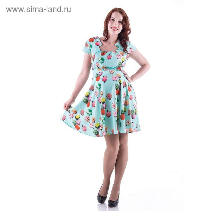 Платье женское для беременных, размер 50, рост 168, цвет бирюзовый (арт. 0255)