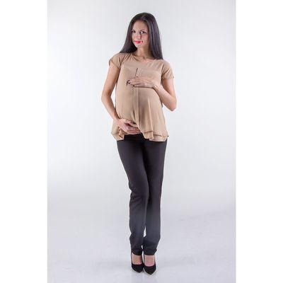 Туника женская для беременных, размер 48, рост 168, цвет бежевый (арт. 0375)