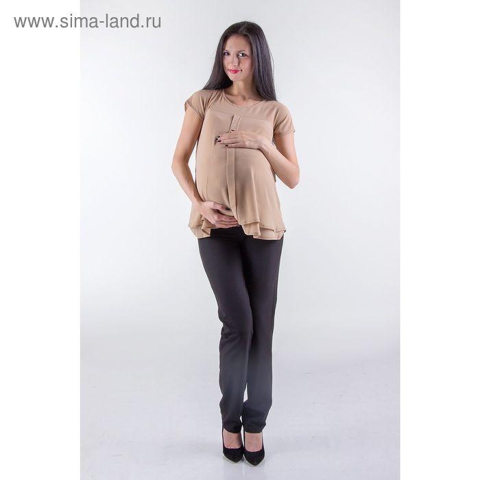 Туника женская для беременных, размер 50, рост 168, цвет бежевый (арт. 0375)