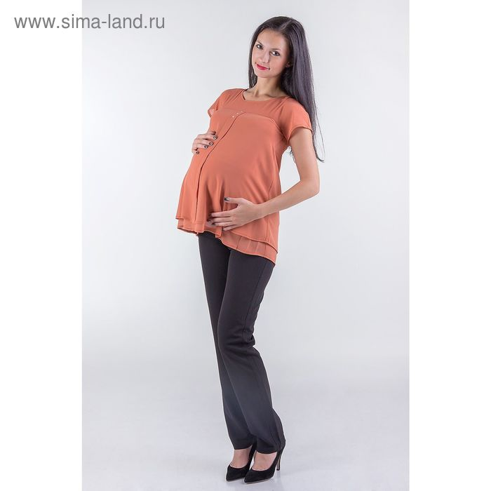 Туника женская для беременных, размер 44, рост 168, цвет терракотовый (арт. 0375)