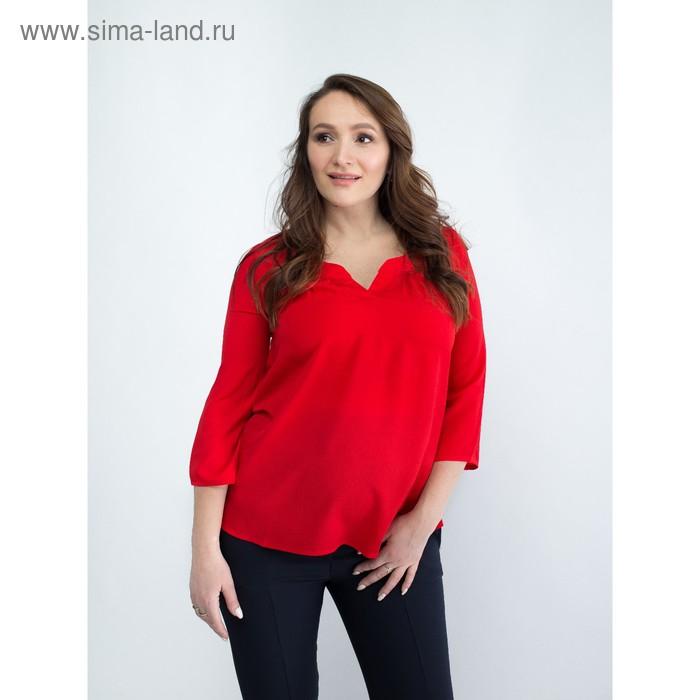 Блузка женская для беременных, размер 46, рост 168, цвет красный (арт. 0348)