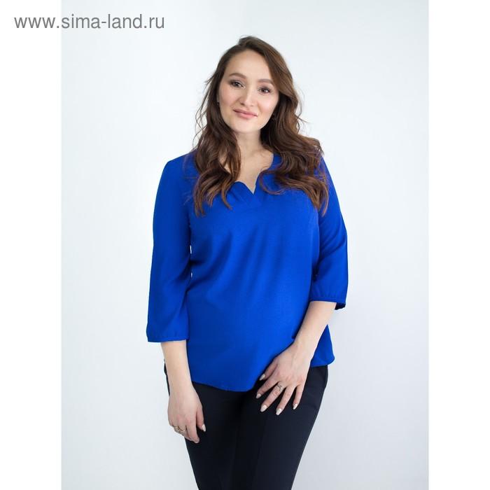 Блузка женская для беременных, размер 46, рост 168, цвет васильковый (арт. 0348)
