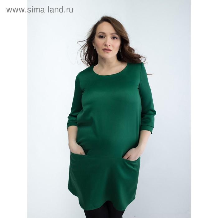 Платье женское для беременных, размер 50, рост 168, цвет зеленый (арт. 0332)