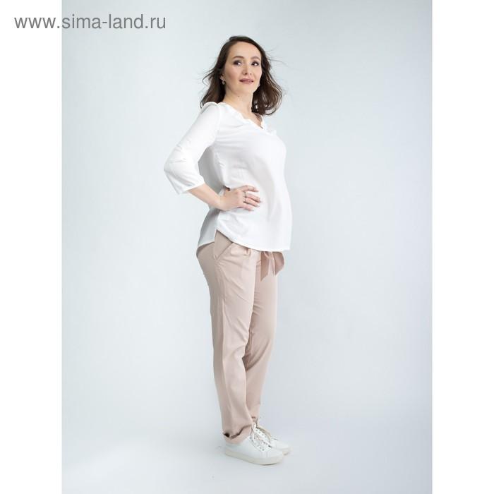 Брюки женские для беременных, размер 50, рост 168, цвет бежевый (арт. 0231)