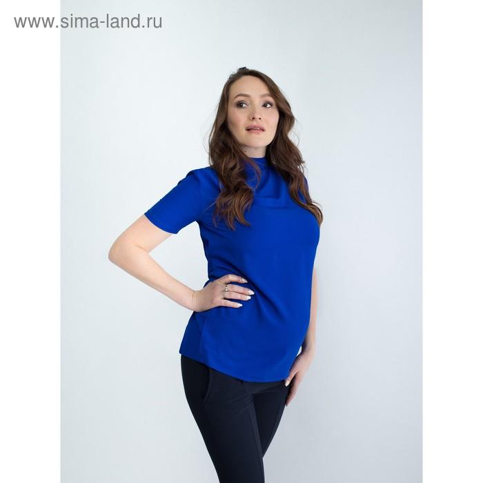 Блузка женская для беременных, размер 44, рост 168, цвет васильковый (арт. 0307)