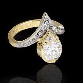 """Кольцо """"Фюрн"""", размер 17, цвет белый в золоте"""