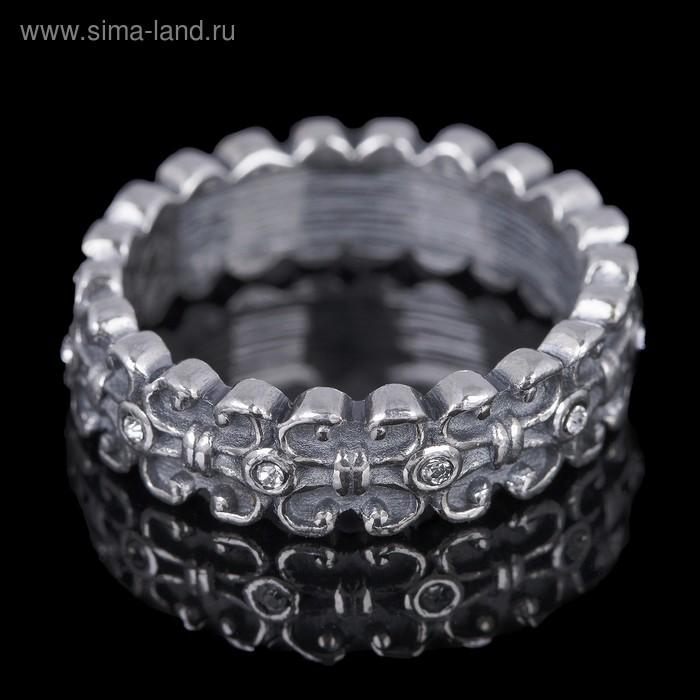 """Кольцо """"Вхатанга"""", размер 18, цвет чернёное серебро"""