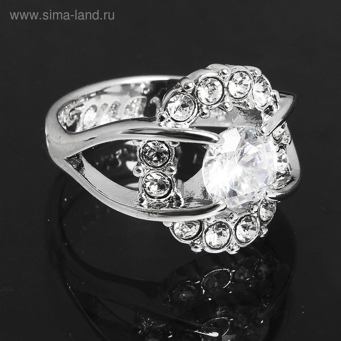 """Кольцо """"Фрате"""", размер 19, цвет белый в серебре"""