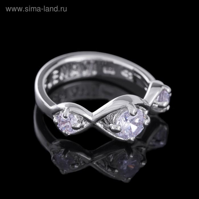 """Кольцо """"Суал"""", размер 19, цвет белый в серебре"""