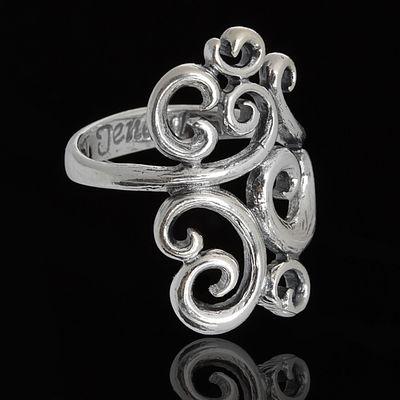 """Кольцо """"Огюст"""", размер 16, цвет чернёное серебро"""