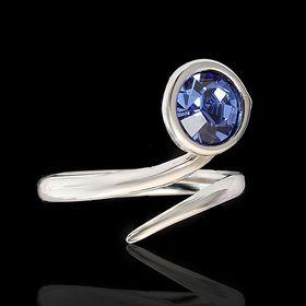 """Кольцо """"Муссон"""", безразмерное, цвет голубой в серебре"""