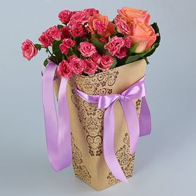"Пакет для цветов ""Лоза"", 9 х 15 х 27 см"