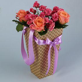 """Пакет для цветов """"Ажур"""", 9 х 15 х 27 см"""